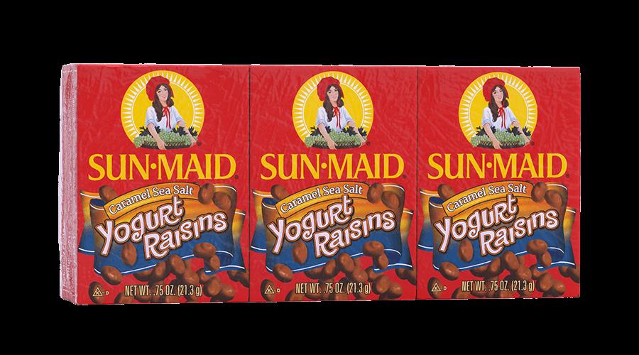 Sun-Maid Caramel Sea Salt Yogurt Raisins .75 oz. boxes (pack of 6)