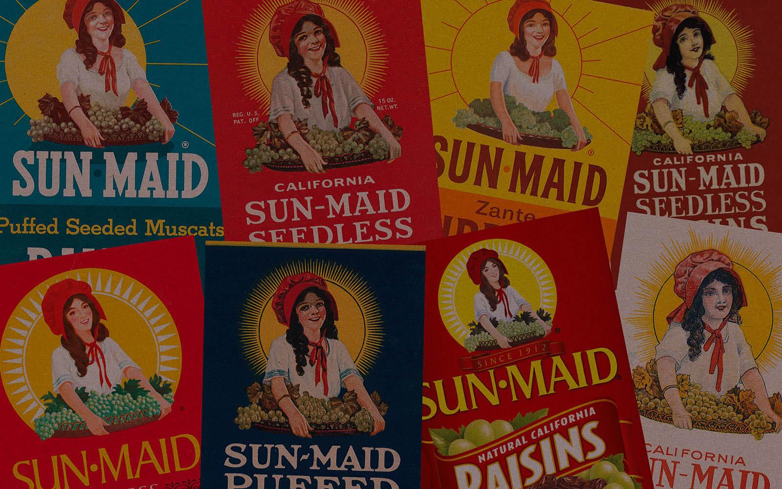 Sun-Maid labels