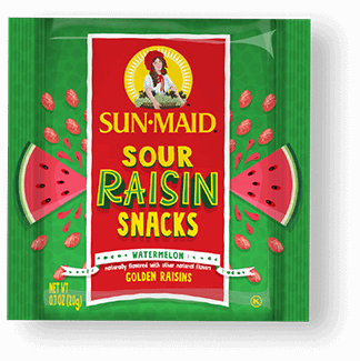 Sun-Maid Watermelon Sour Raisin Snacks 0.7 oz. pouch