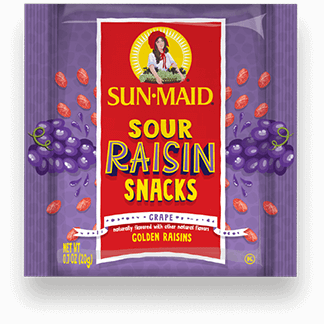Sun-Maid Grape Sour Raisin Snacks 0.7 oz. pouch